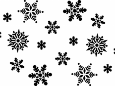 Vzory na snehové vločky z papiera - foto postup
