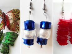 Recyklovanie PET fliaš: Náušnice, brošňa, záves, stôl aj metla - foto postup