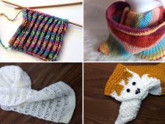 Návody na pletené a háčkované šály a nákrčníčky - foto postup