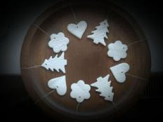 Postup na vianočné ozdoby na stromček zo studeného porcelánu - foto postup