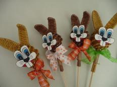 Zajac zápich - Veľkonočná dekorácia. - foto postup