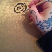 Malovanie na textil  ( vankus a jeho postup)