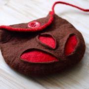 Hnedo-červená kabelka