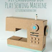 Papierové hračky - šijací stroj