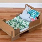 Papierové hračky - posteľ pre bábiku
