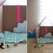 Papierové hračky - domček na hranie