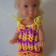 Gumičkové šatky pre bábiku