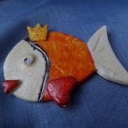 Zlatá rybka keramika