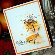 Maľovaná pohľadnica k narodeninám