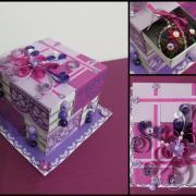 fialový šuflík zo zápalkových škatuliek