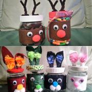 Recyklujem fľaše/nádoby - tvorím z nich tematické nádoby na cukríky
