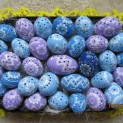 Modrá kombinovaná s fialovou