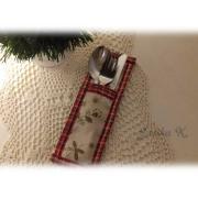 Puzdro na príbor k vianočnému stolovaniu