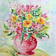 Kytica - akvarel