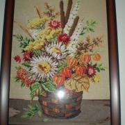gobelín-kytica kvetov