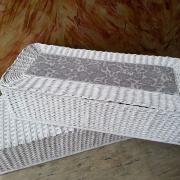 Veľké pletené koše z papiera - mamina tvorila