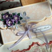 Svadobná obálka fialkovo-krémová