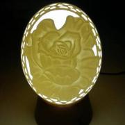 Lampa z pštrosieho vajca - ruža