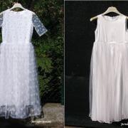 šaty pred a po úprave :)