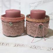 recy ružové svietniky