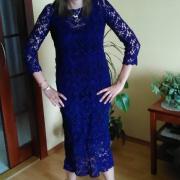 háčkované midi šaty
