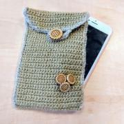 Háčkovaný obal na mobil