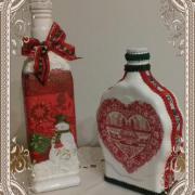 fľaše na likér a sirup
