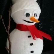 snehuliak z ponozky