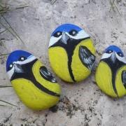 Vtáčiky - maľované kamienky