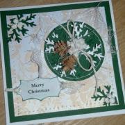 Vianočná ikebana - pohľadnica
