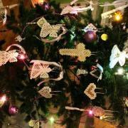 """""""Vyšívaný"""" vianočný stromček"""