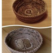 košíky z borovicového ihličia