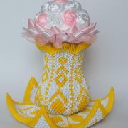3D origami váza