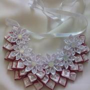 Saténový náhrdelník