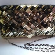 Čierno - zlatá kabelka