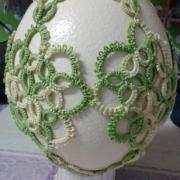 frivolitkové pštrosie vajce