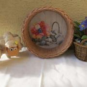 šité ovečky a pletenie s papiera košíček