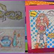 """občas ma chalani donútia kresliť akože """"grafity"""" a komiksy :D"""
