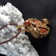 Autorská sada šperkov : Srdiečko - zlatý avanturín