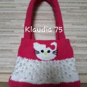 Háčkovaná kabelka hello kitty