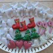 šité vianočné ozdoby
