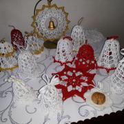 Háčkované vianočné ozdoby