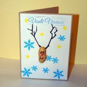Vianočný sobík - pohľadnica