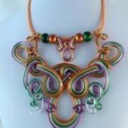 Drôtovaná sada šperkov