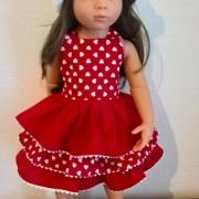 šité šatky pre bábiku