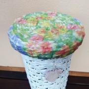 Stojan na toaletný papier - papierové pletenie a dekupáž