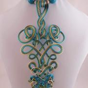 Autorská drôtovaná  sada šperkov inšpirovaná vinobraním ...