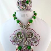 Autorská drôtovaná sada šperkov...