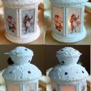 Vianočný lampáš a svietnik