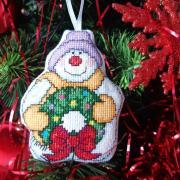 vyšívana vianočná dekorácia